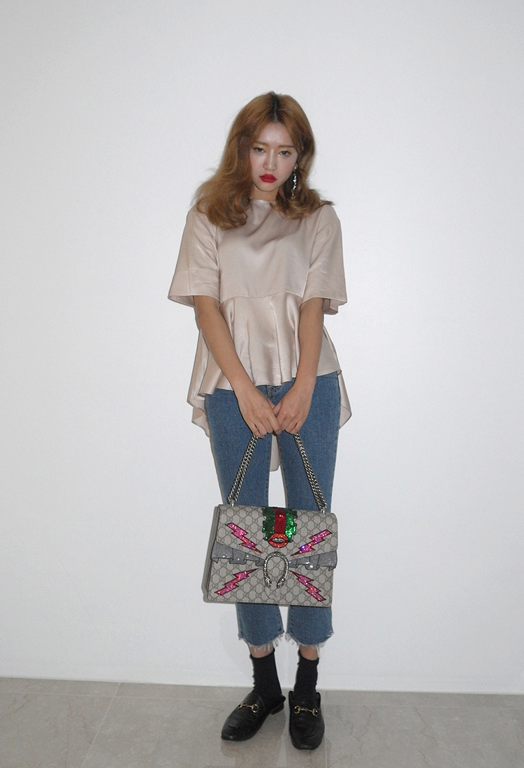 [Sold Out] 언발 슬립 blouse/골드