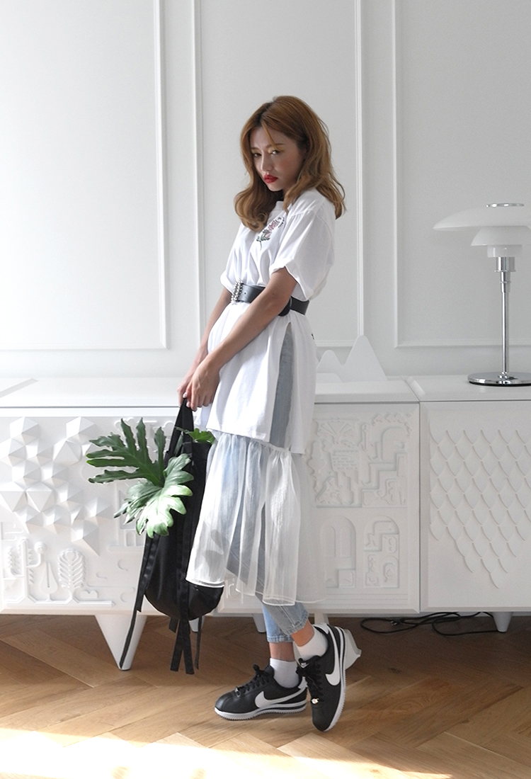 [Sold Out] speak undervoice-오간자 skirt /ivory
