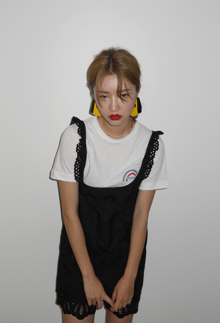 [Sold Out] 레이스 펀칭나시 mini suit/black