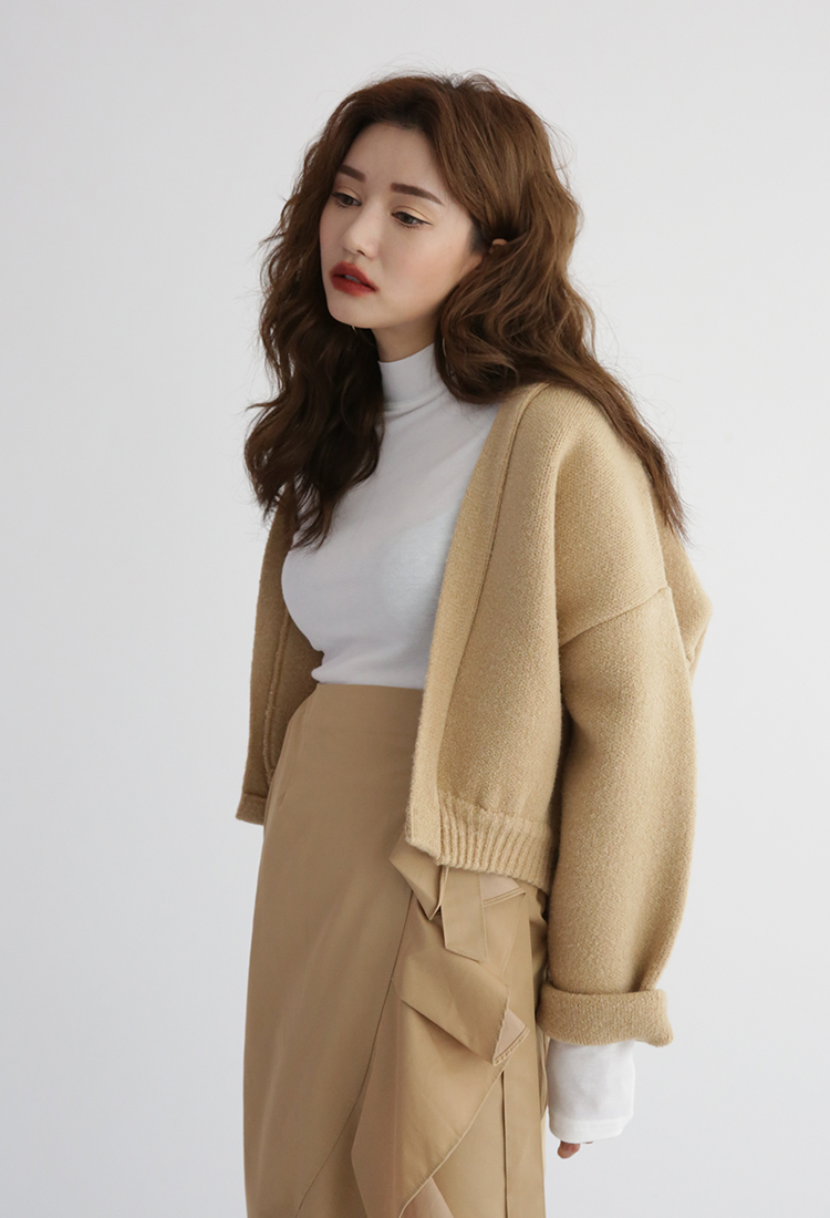[Sold Out] 헤비 숏 가디건/beige
